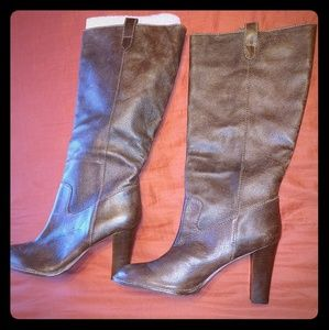 Banana Republic Tall Leather Brown Boots